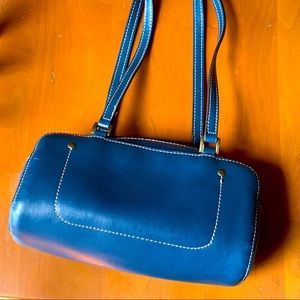 Blue Leather Purse 👜 MARKED DOWN FOR SCUFFS